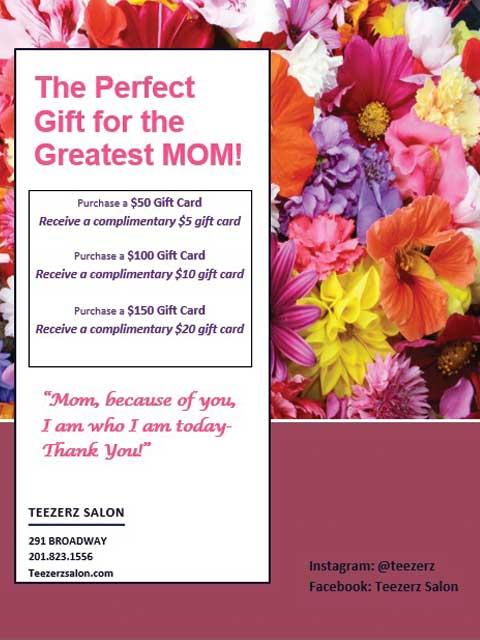 Teezerz Salon Mother's Day Special